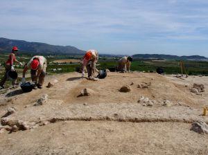 :: FOTO De ARCHIVO:: Excavaciones en el Yacimiento de La Cabezuela de Barranda