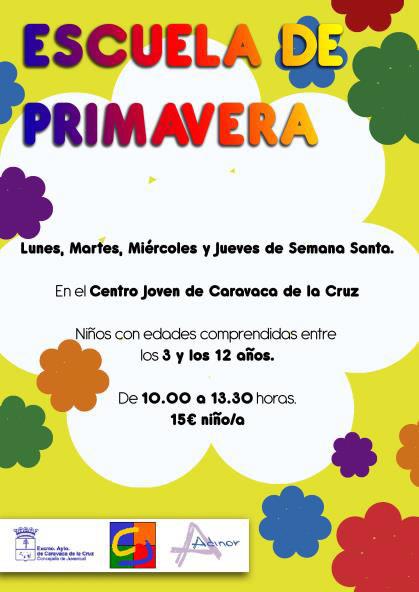 Organizadas las actividades en la Escuela de Primavera en Caravaca ...