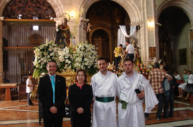 En la foto Adrian Caparros, María Barrera, Pedro Ruiz y Jose Pascual ::Foto de Archivo::
