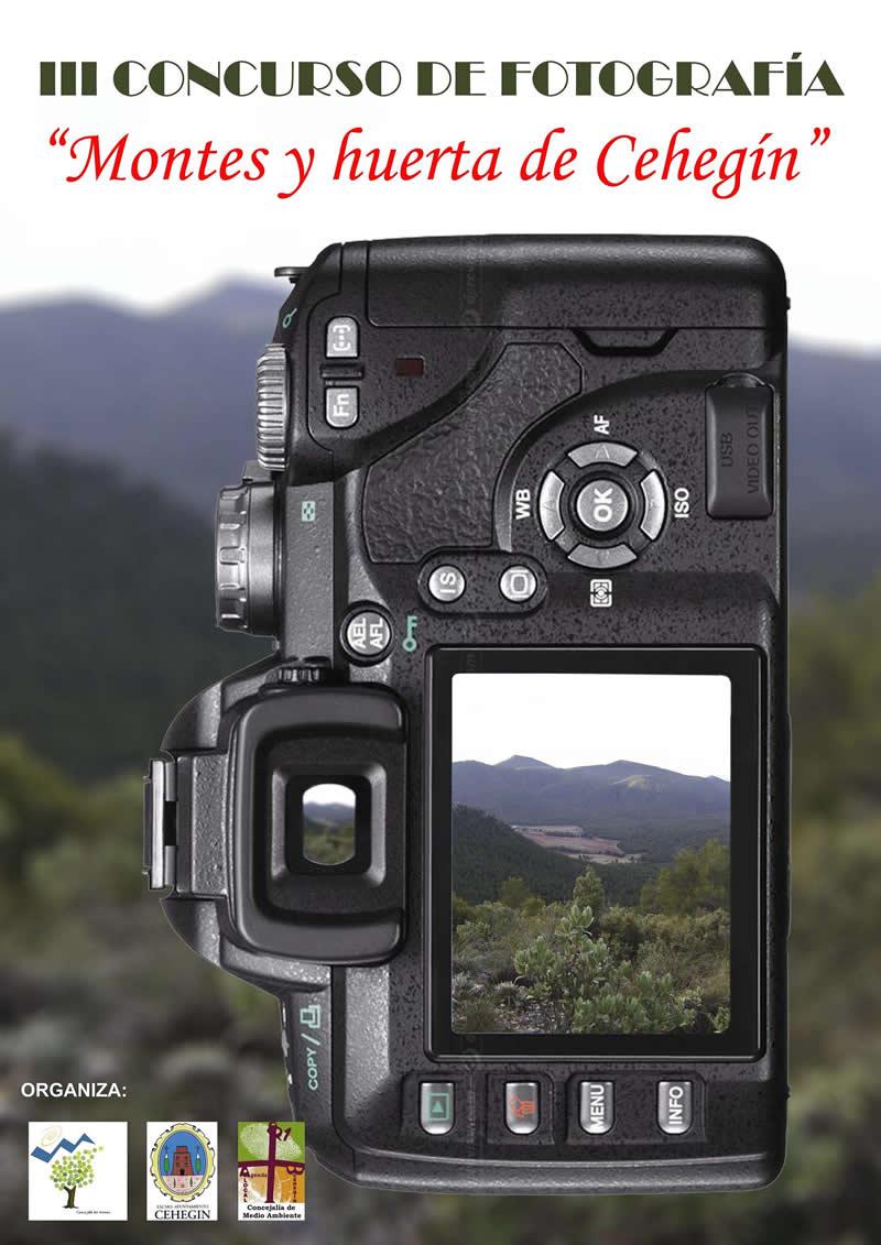 Cartel concurso fotografía 'Montes y huerta de Cehegín'