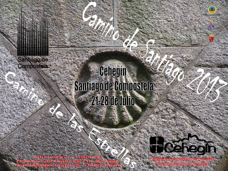 Cartel viaje Cehegín Camino de Santiago