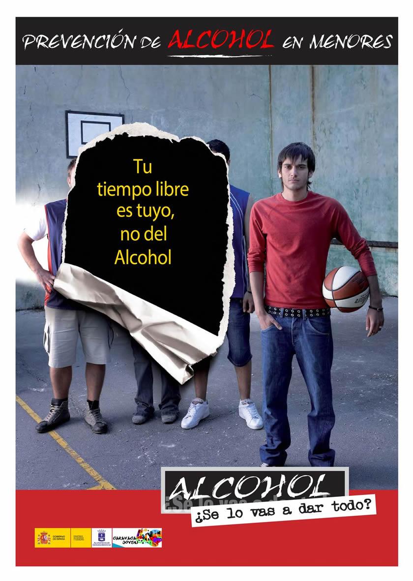 Cartel campaña prevención Alcohol en menores