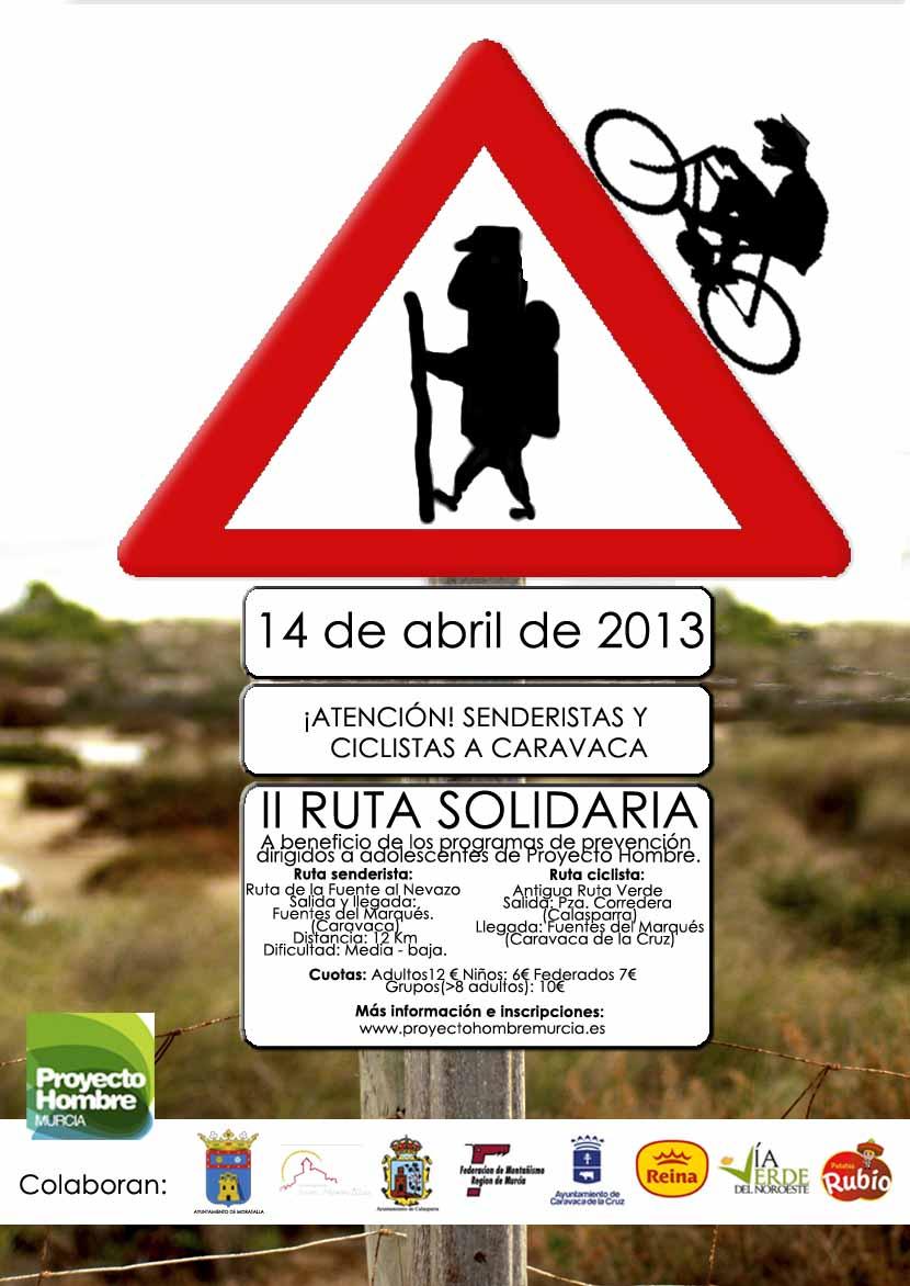 Cartel II ruta solidaria proyecto hombre murcia 2013