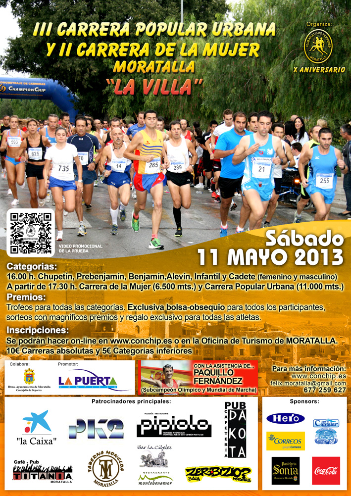 Cartel III Carrera Popular 2013 Moratalla