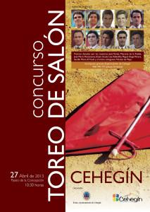 Cartel I Concurso de Tauromaquia de Salón de Cehegín