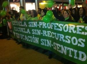 Foto de archivo ::: Manifestación Profesores:::