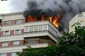 Edificio incendiado Murcia