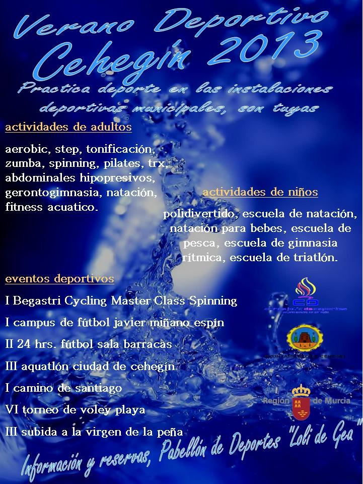 Actividades Verano 2013 Cehegín