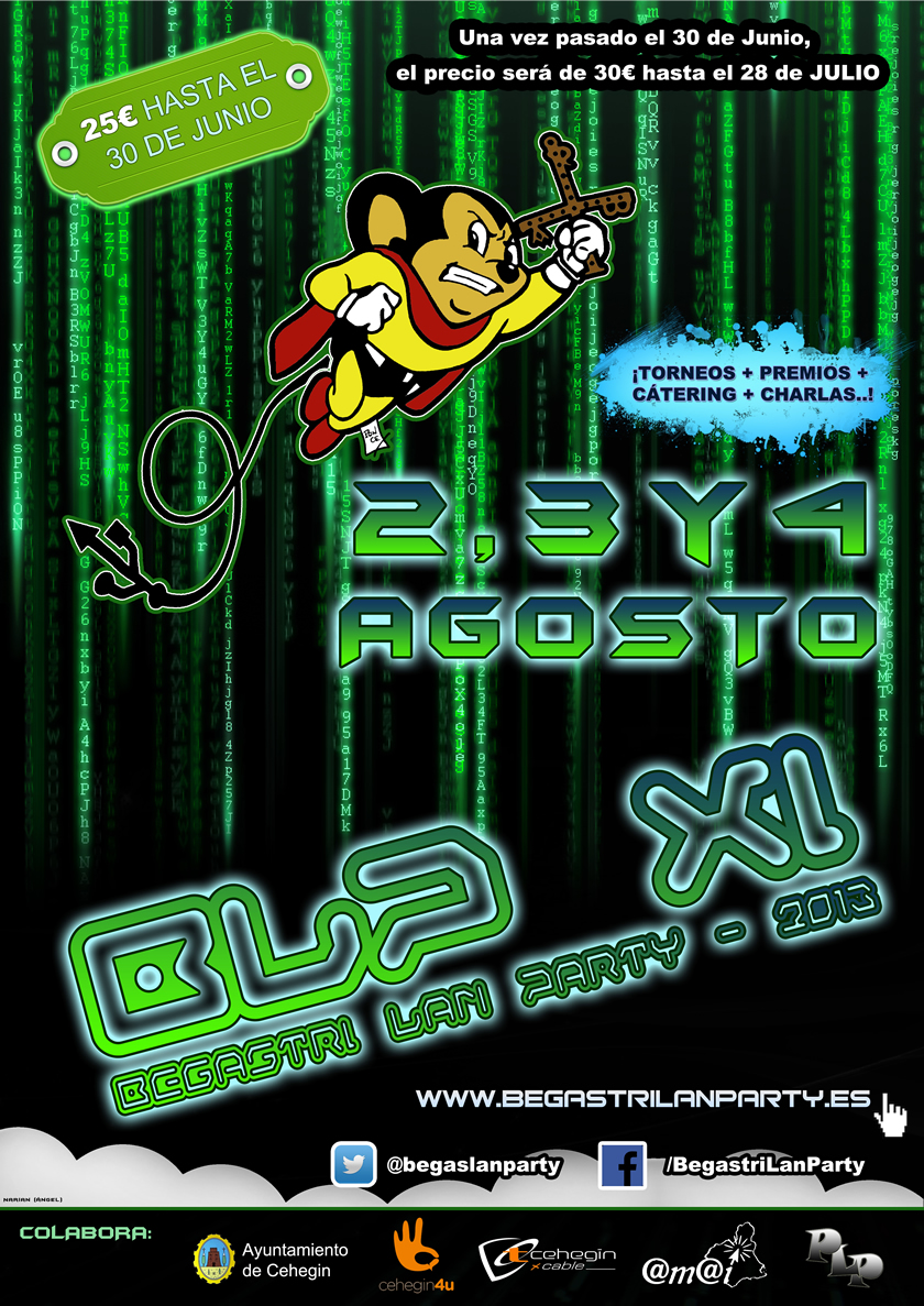 Cartel Begastri Lan Party