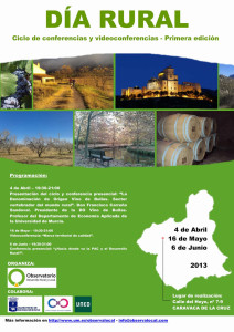 Cartel Ciclo Conferencias 'Día Rural'