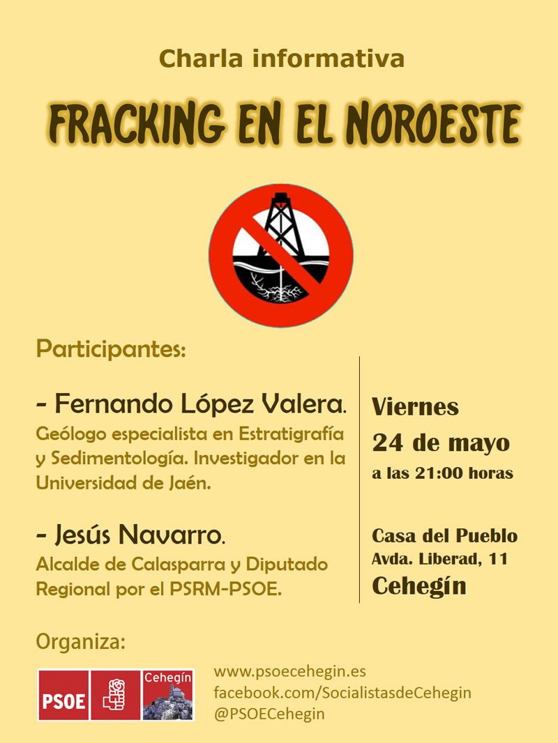 Cartel charla fracking