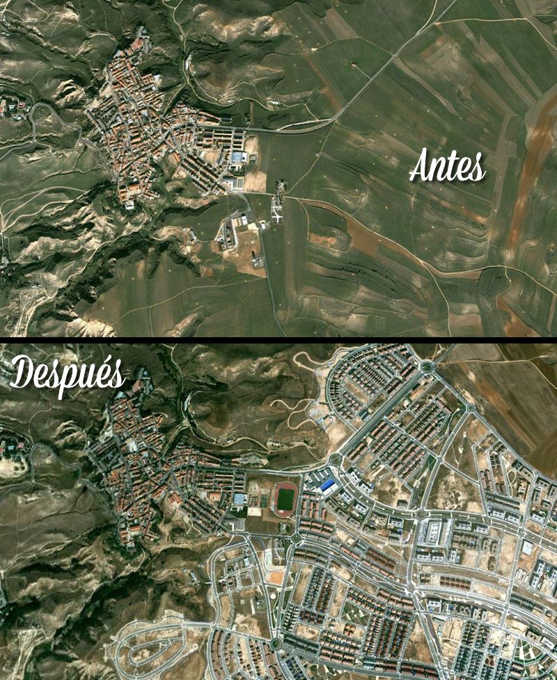 El antes y el después de los desastres urbanísticos de España