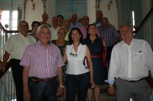 El alcalde recibe a la nueva junta directiva del Club del Pensionista de Cehegín
