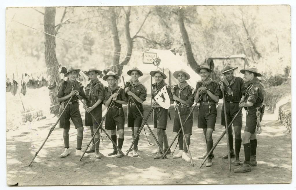 Boy Scouts de Murcia en el campamento de Sierra Espuña. Julio de 1926 / Foto Mateo