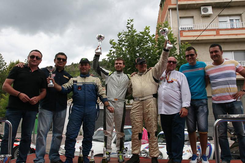 El podium final de la prueba con Rubén Cerezo, Raúl Borreguero y Julián Bornas.