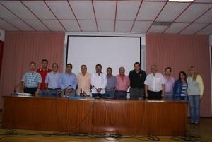 Miembros de la Comisión Taurina presentes anoche en la presentación de cuentas