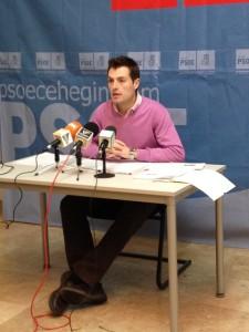 Secretario General PSOE Cehegín, José Rafael Rocamora