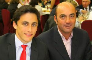 Filiberto junto a su apoderado Gonzalo González