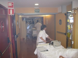 Simulacro de Incendio en el Hospital Comarcal del Noroeste