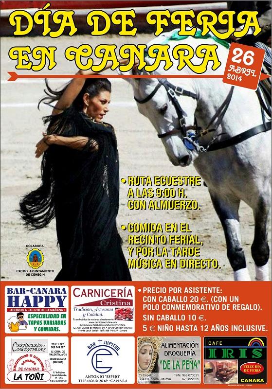 Cartel día de Feria en Canara