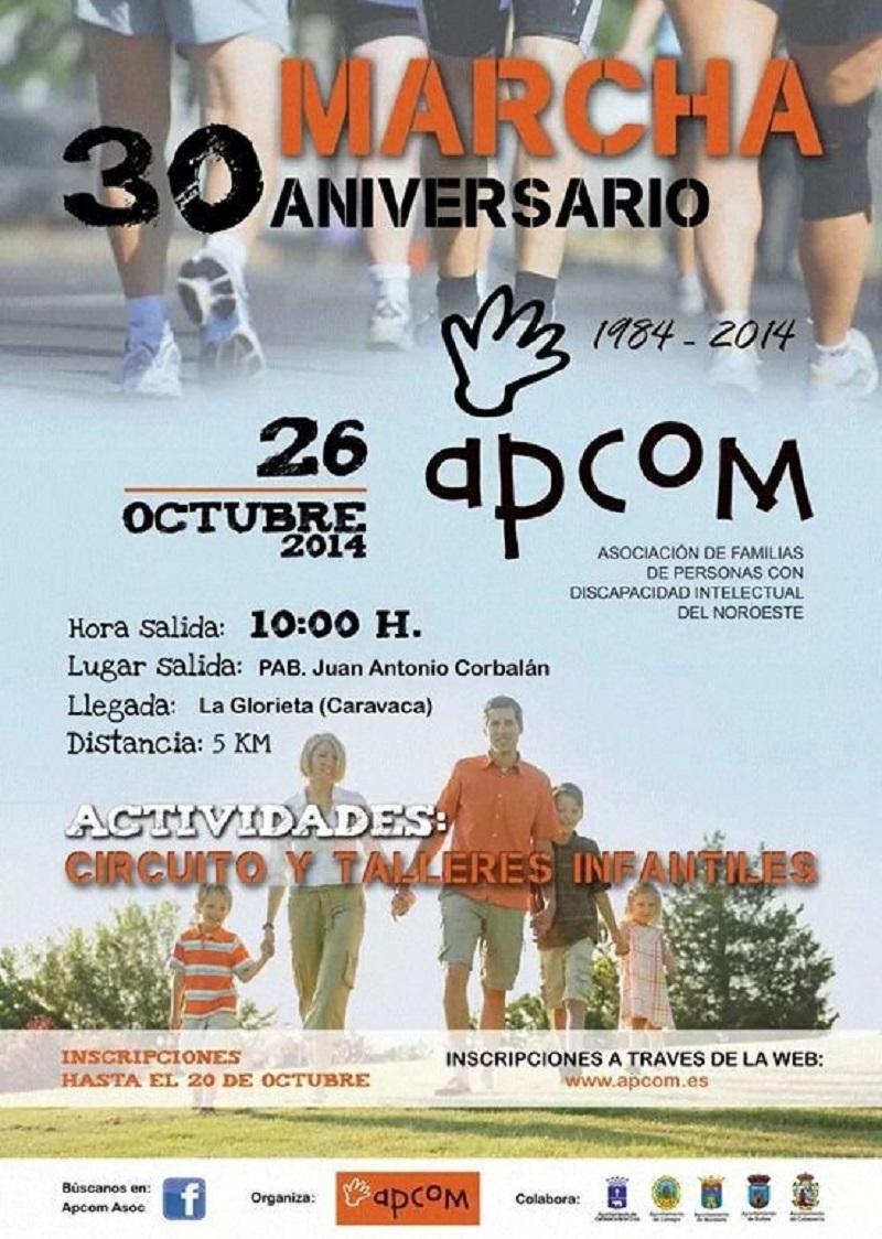 Marcha XXX aniversario APCOM