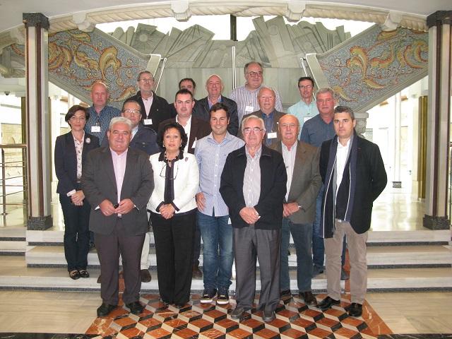 2014.11.12 Ana Aquilina con representantes sector del curtido Lorca