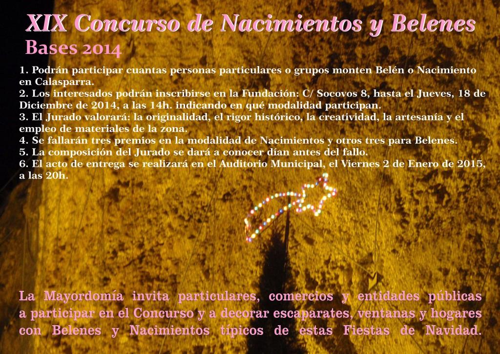 Cartel Concurso Nacimientos y Belenes 2014
