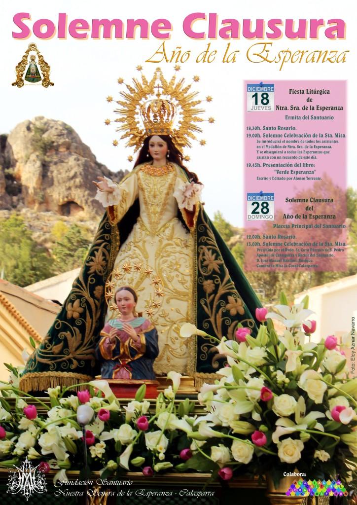 Cartel Solemne Clausura Año Esperanza Calasparra A