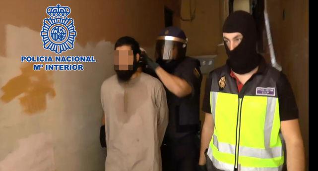 Detención del líder de la célula yihadista en España.