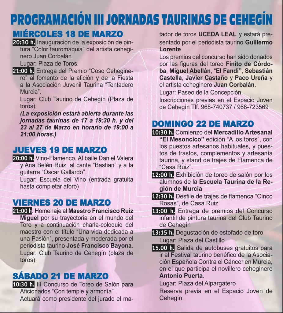 III jornadas taurinas-2015-baja-2