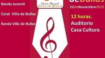 Los músicos de Bullas honrarán a Santa Cecilia con conciertos