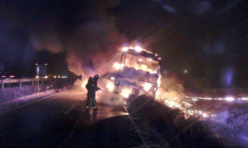 incendio autobus lorca