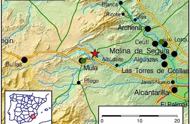 Mula registra un temblor de 1,9 grados de magnitud