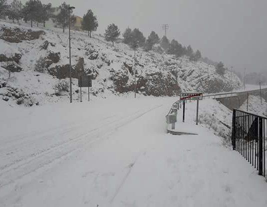 ::Foto de Archivo:: Nevada del pasado mes de Enero en Caravaca